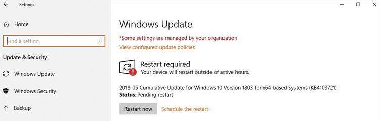 Windows 10 si blocca mentre carica – aggiornamento di maggio 2018 2018-05 KB4103721